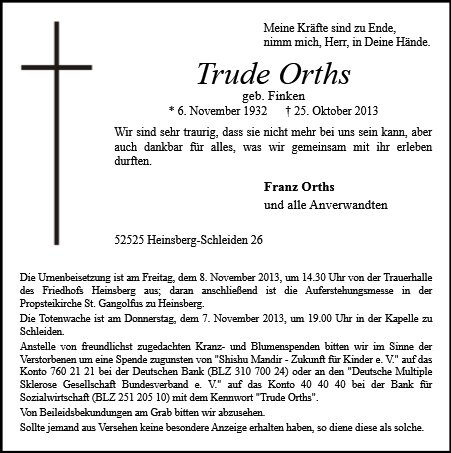 Trude Orths