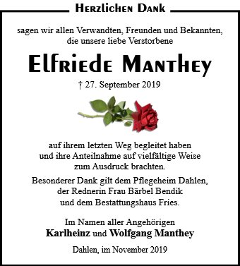 Elfriede Manthey