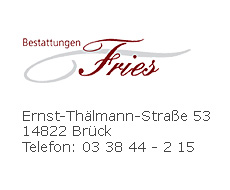 Bestattungen Fries