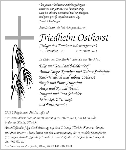 Friedhelm Osthorst