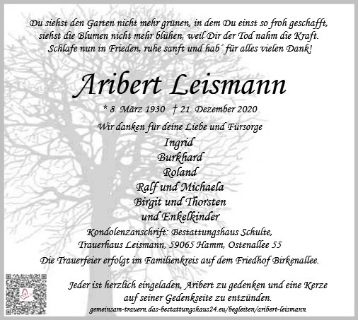 Aribert Leismann