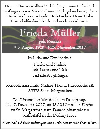 Frieda Müller