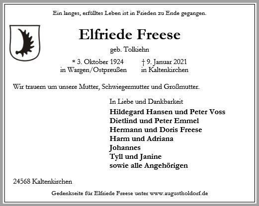Elfriede Freese