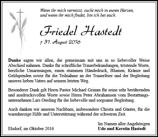 Friedel Hastedt