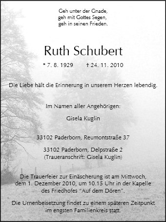 Ruth Schubert