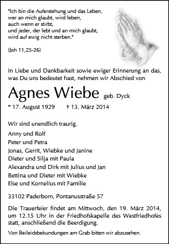 Agnes Wiebe