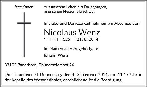 Nicolaus Wenz