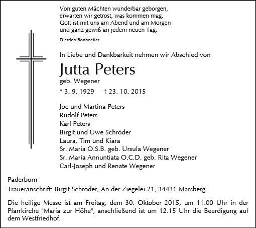 Jutta Peters
