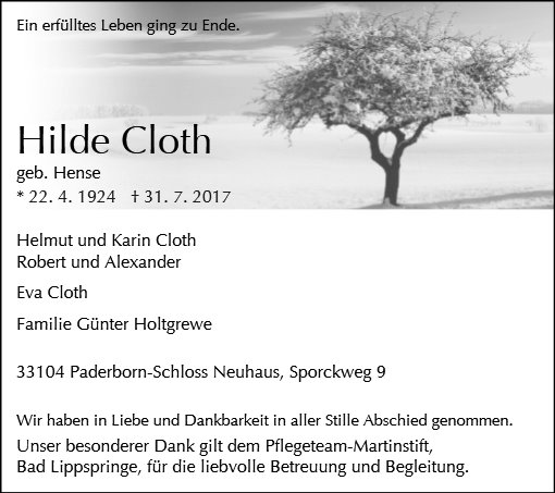 Hildegard Cloth