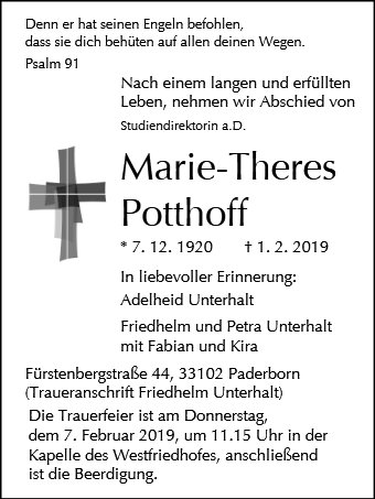 Maria Theresia Potthoff
