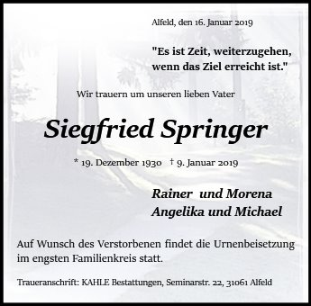 Siegfried Springer