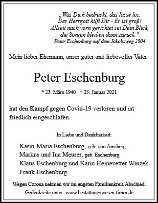 Peter Eschenburg