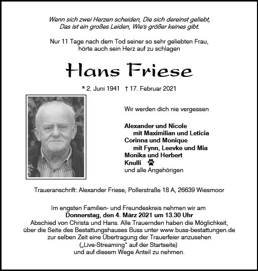 Hans Friese