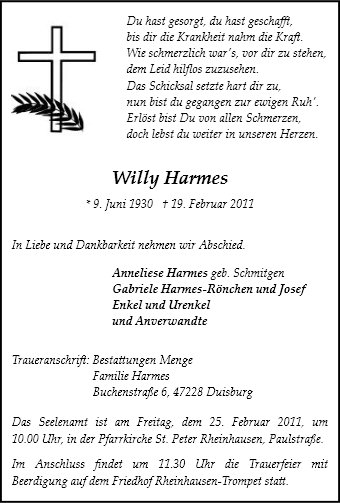 Willy Harmes
