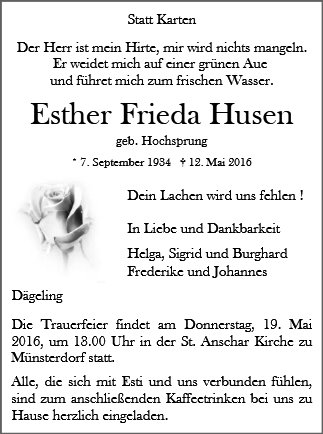 Esther Frieda Husen