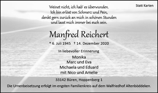 Manfred Reichert