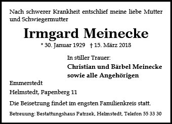 Irmgard Meinecke