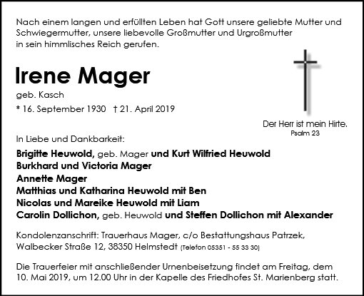 Irene Mager