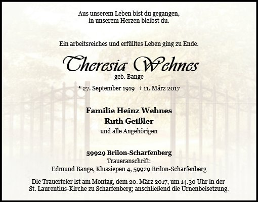 Theresia Wehnes