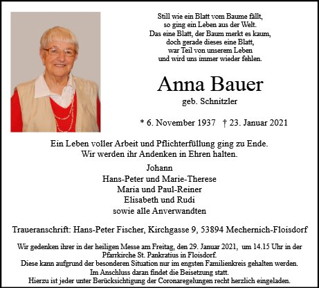 Anna Theresia Bauer