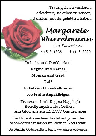 Margarete Warrelmann